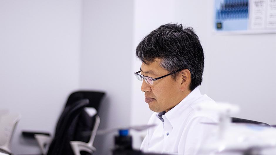 エアロセンス代表・嶋田さんの横顔