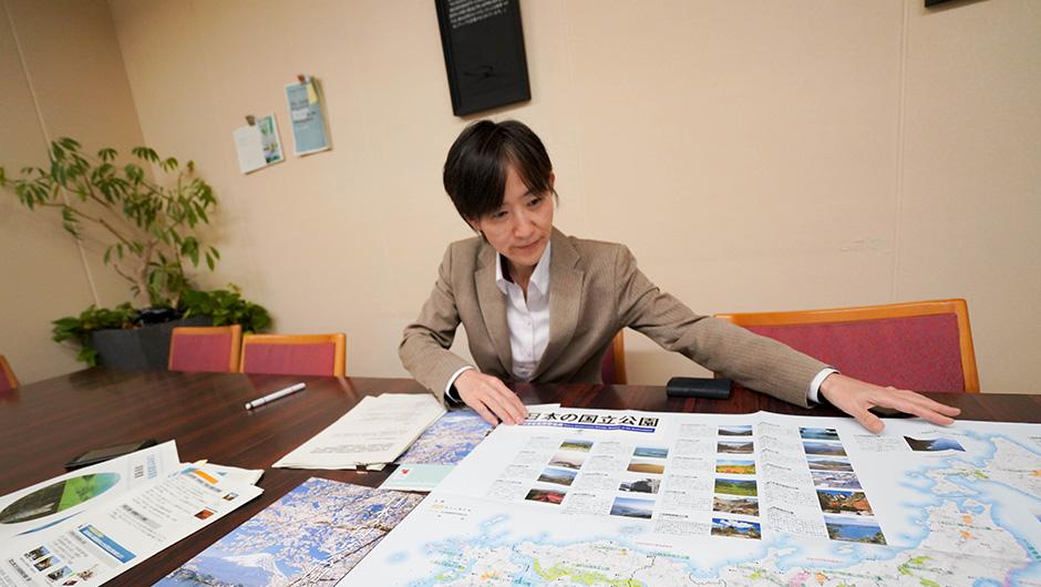 国立公園について語る中島尚子さん
