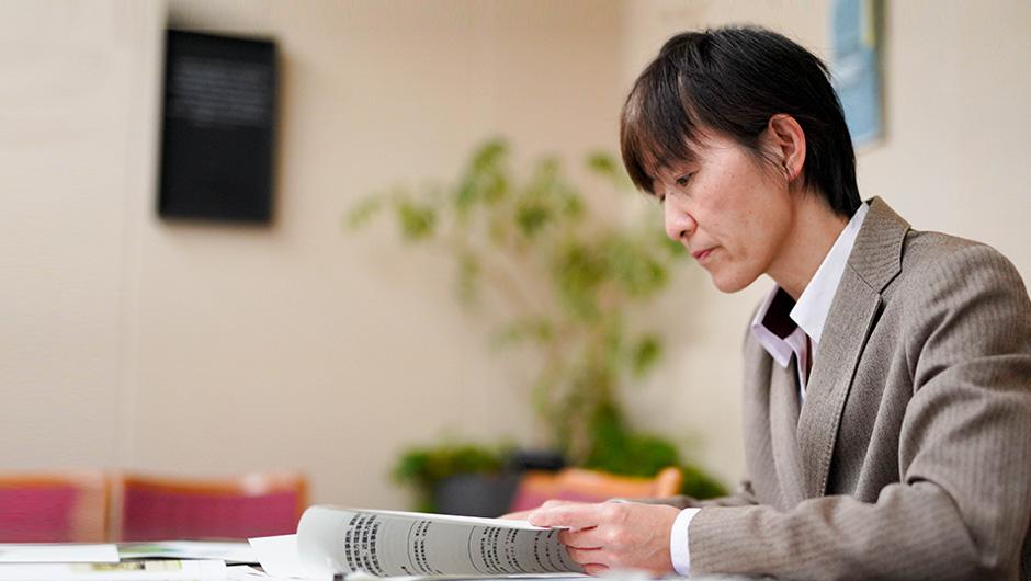 中島尚子さんの横顔