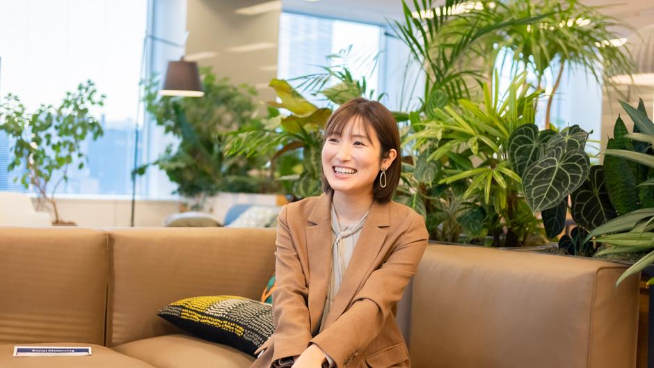 IBM⼤櫛愛也さんのインタビュー風景