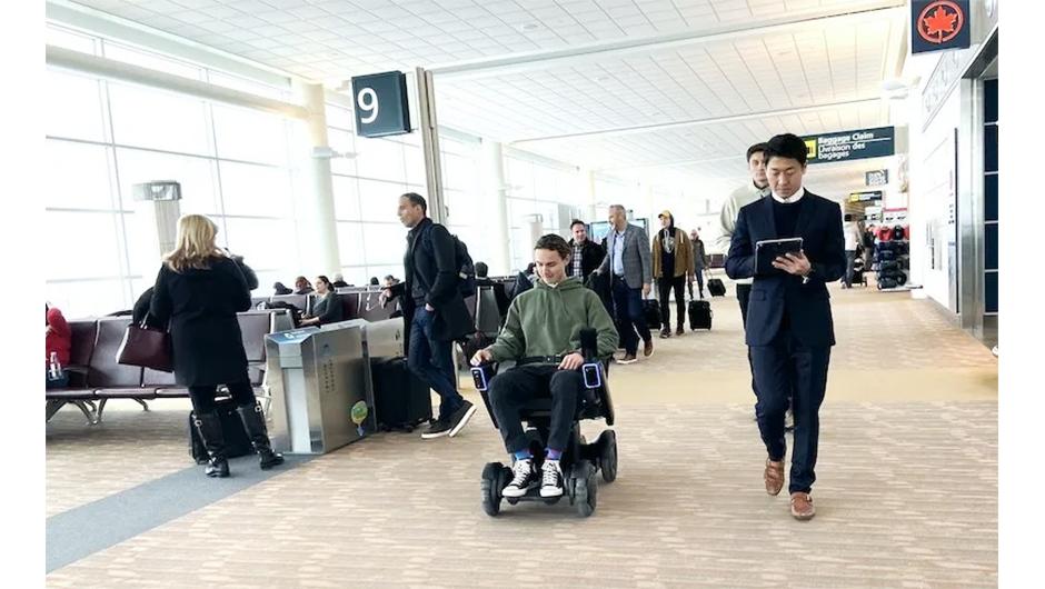 ウィニペグ国際空港での実証の様子