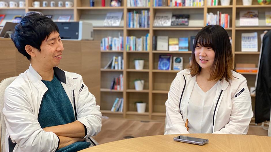 クリーンプラネットの村上翔一さん、金谷美希さんの画像