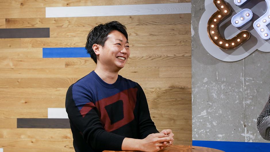 goodpatchデザインストラテジスト伊澤和宏さんの笑顔