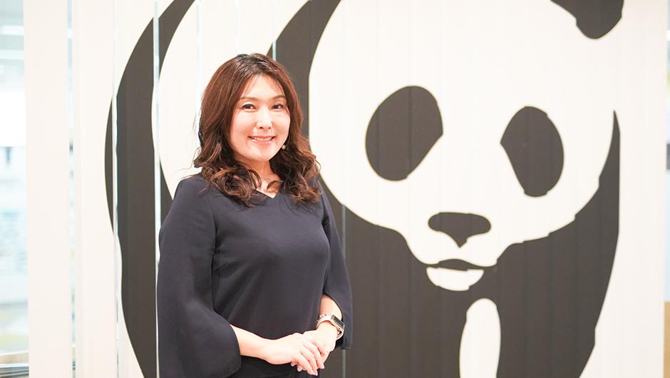 WWF外岡瑞紀さんの立ち姿